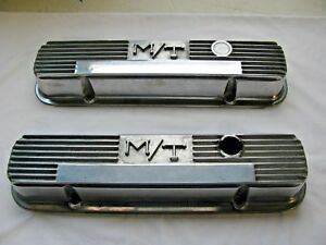Used M T Holley Valve Covers 140r 58b Pontiac V8 326 389 400 421 428 455 Vintage