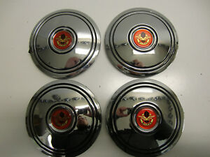 Mclean Wire Wheel Center Hub Caps Chrome Original Nos New Old Stock Never Used