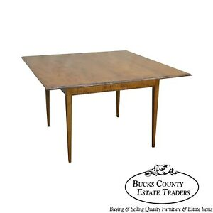 Tiger Maple Custom Crafted Square Dining Table