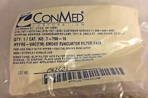 Conmed Hyfrecator vac Smoke Evacuator Filter Pack No 7 796 16