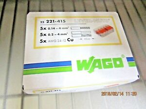 Wago 221 415 Connector Lever Nut 25 pcs