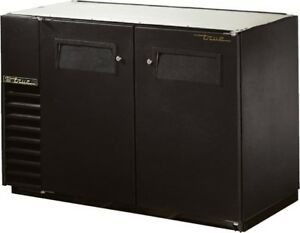 True Tbb 24gal 48 Back Bar Cooler Black Doors With Casters