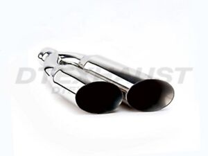 Dt 253512ds Stainless Exhaust Tip Dual Single Wall 2 5 Inlet 3 5 Outlet 12 L