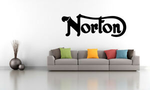 Norton Motorcycle Wall Decal Commando 750 850 961 V4 Rr Dominator Cafe Racer