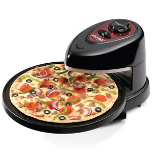 Home Kitchen Commercial Cooking Electric Warming Rotating Pizza Maker Oven Black