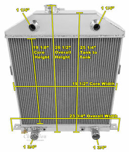 2 Row 1 Discount Radiator For 1942 1948 Ford Coupe Flathead Configuration