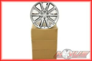 New 24 Chevy Tahoe Ltz Silverado Gmc Yukon Sierra Silver Chrome Wheels 22 9900