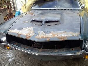 Amc Amx Javelin 1968 1969 Factory 1970 Ram Air Hood 100 Complete