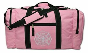 X Value Firefighter Turnout Gear Bag W Maltese Cross Pink Reflective Stitching