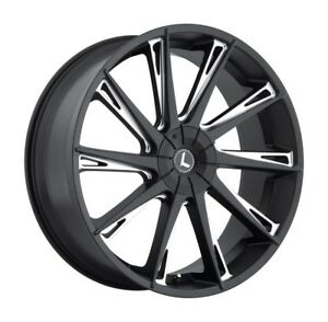 4 kraze Swagg 144 Wheel Rim 26x10 Milled Black 6x135 6x5 5 6x139 7 30mm