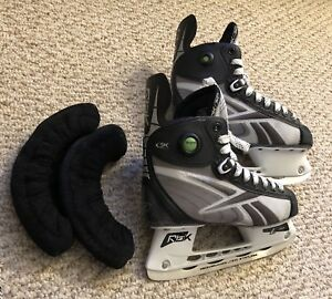 NEW REEBOK 5K Pump Hockey Skates - Senior     Men size 5.5 + FREE Blade cover