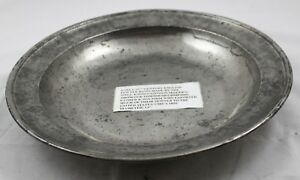19c English Pewter Charger 1 Thomas And Townsend Compton