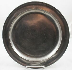 18 19c German Pewter Charger 2