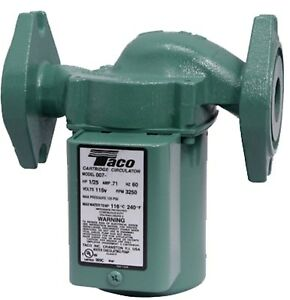 Taco 007 hf5 Cast Iron Circulator Pump 120 Volt 1 25 Hp 007