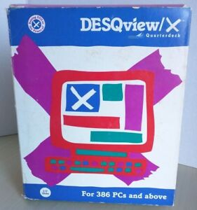Desqview x Version 1 0 Software For Dos 386 Pcs And Above 3 5 Disks Vtg 1987