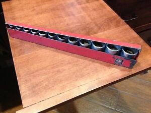 Matco Tools 1 2 Drive 6 Point 12 Piece Sae Socket Set With Metal Holder 1 1 8