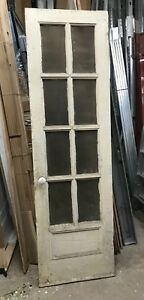 Vintage Etched Glass Paneled Door 25 3 4 X 87 X 1 1 2 Salvage