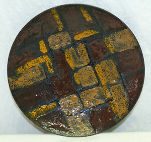 Old Italy Mid Century Modern Abstract 8 5 Enamel Bowl Dish Textured Modernist