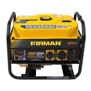 Firman P03607 4550 3650 Watt Gas Powered Extended Run Time Portable Generator