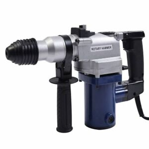 Electric Rotary Hammer Drill 850w Chisel Bits Demolition Kit Case Power Tools