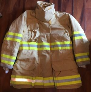 Firefighter Veridian Turnout Bunker Coat 42x32 Costume 2008 Stedair 3000 Not Cut