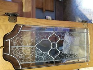 Antique Leaded Glass Cabinet Doors 24 X 13