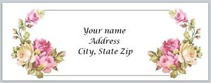Personalized Address Labels Flowers Buy 3 Get 1 Free xco 880