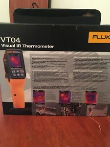 Fluke Vt04 Visual Ir Thermometer With Soft Carrying Case New