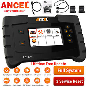 Ancel Fx4000 All Systems Scanner Abs Srs Sas Transmission Oil Reset Epb Diagnos
