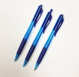 Lot Of 500 Pieces Jersey Style Plastic Pens With Translucent Blue Finish