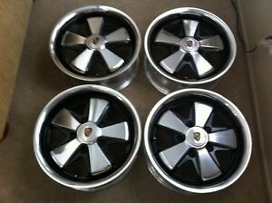 Deep 6 S Porsche Detailed Fuchs Wheels With Hearts Polished All Deep 6 X 15