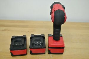 Snap On Tools Ct8810a 18v 3 8 Dr Cordless Lithium Impact Wrench Set 2 Batteries