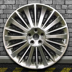Hyper Dark Smoked Silver Machined Bright Oem Wheel For 13 15 Lincoln Mkz 19x8