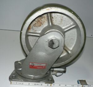 Industrial Plate Caster Wheel 9 X 4 3070706 101 Bracket 7 5 X 6 5