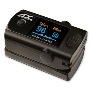 Adc Diagnostix 2100 Fingertip Pulse Oximeter With Carry Lanyard And Bumper