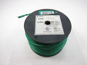 New 500 Foot Cme 12awg Stranded Green Wire Cable Thhn thwn Gasoline And Oil