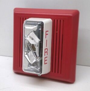 Edwards Est 757 5a t Temporal Horn strobe Fire Alarm 24v Red