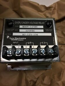Tyco Electronics Wilmar Wouv 125dc Over under Frequency Relay New
