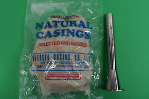 2 1 16 X 3 4 Sausage Stuffer Tube And Natural Pork Casings For 100 Lbs Of Meat