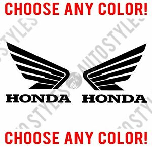 Honda Wings Racing Motorsport Atv Motorcycle Pair Of Decal Wings Vinyl Stickers