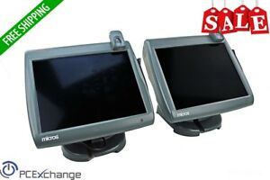 Lot Of 2 Micros Workstation 5 Touchscreen Pos Terminal Ws5 Windows Ce W Stands