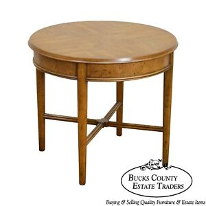 Heritage Vintage Round Walnut Side Table
