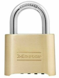 Master Lock Padlock 175d 4 Digit Re settable Combination Padlock 2 Pack