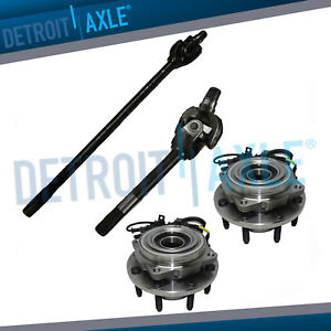 Front Wheel Bearing U joint Axle Shafts For 2005 2010 F 250 F 350 Srw Dana 60