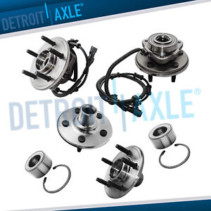 All 4 Front Rear Wheel Bearing Hub Assembly 2002 2003 2004 2005 Ford Explorer