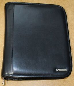 7 1 5 Rings Genuine Leather Classic Black Franklin Covey Zipper Planner Mint