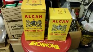 Vintage Alcan Wads - 2 boxes 12g ring waxed nitro guard