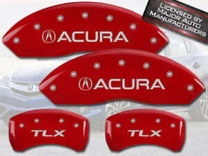 2015 2018 Acura Tlx Front Rear Red Mgp Brake Disc Caliper Covers 4pc Set
