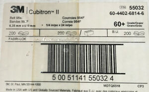 3m 1 4 X 24 60 Grit 984f Cubitron Ii Sanding Belts factory Sealed Box Of 200