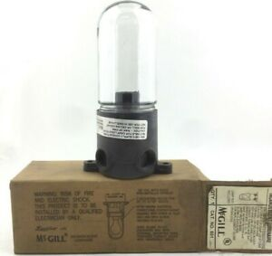 Mcgill 601 Incandescent Utility Light With Glass Globe For Damp Location 0 74